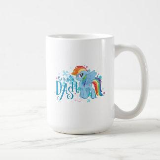My Little Pony | Rainbow Dash Watercolor Flowers Coffee Mug