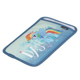 My Little Pony   Rainbow Dash Watercolor Flowers iPad Mini Sleeve