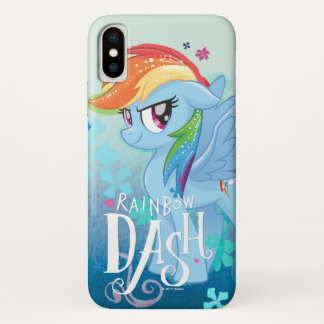 My Little Pony | Rainbow Dash Watercolor Flowers iPhone X Case