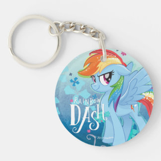 My Little Pony | Rainbow Dash Watercolor Flowers Keychain