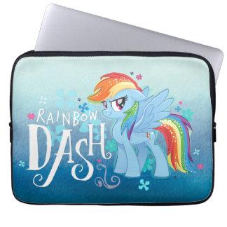 My Little Pony   Rainbow Dash Watercolor Flowers Laptop Sleeve