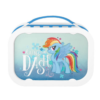 My Little Pony | Rainbow Dash Watercolor Flowers Lunch Box