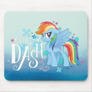 My Little Pony | Rainbow Dash Watercolor Flowers Mouse Pad