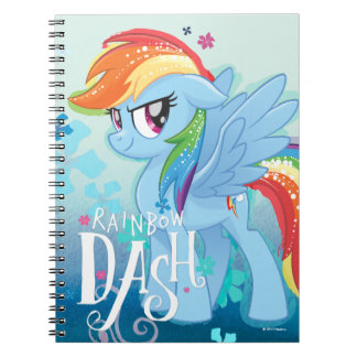 My Little Pony | Rainbow Dash Watercolor Flowers Notebooks