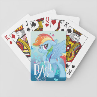 My Little Pony | Rainbow Dash Watercolor Flowers Playing Cards