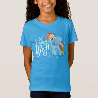 My Little Pony | Rainbow Dash Watercolor Flowers T-Shirt