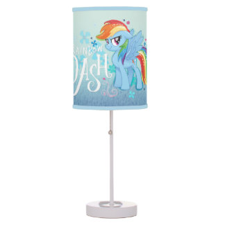 My Little Pony | Rainbow Dash Watercolor Flowers Table Lamp