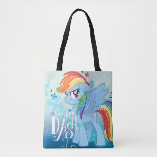 My Little Pony | Rainbow Dash Watercolor Flowers Tote Bag
