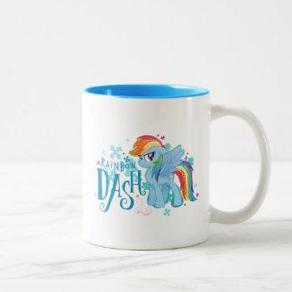 My Little Pony | Rainbow Dash Watercolor Flowers Two-Tone Coffee Mug