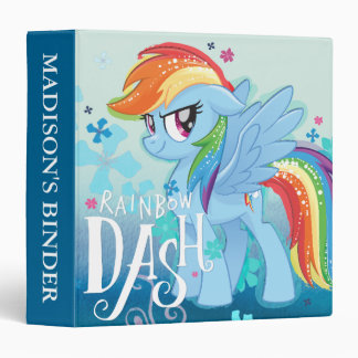 My Little Pony | Rainbow Dash Watercolor Flowers Vinyl Binders