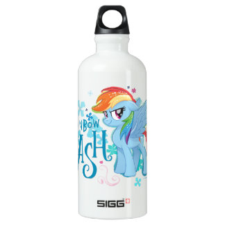 My Little Pony | Rainbow Dash Watercolor Flowers Water Bottle