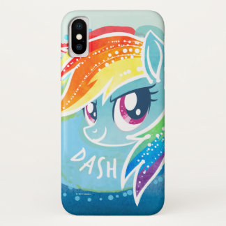 My Little Pony | Rainbow Dash Watercolor iPhone X Case