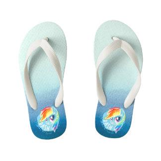 My Little Pony | Rainbow Dash Watercolor Kid's Flip Flops