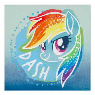My Little Pony | Rainbow Dash Watercolor Poster