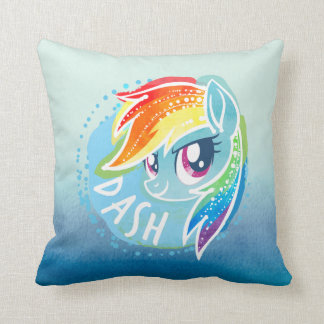 My Little Pony | Rainbow Dash Watercolor Throw Pillow