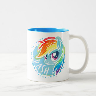 My Little Pony | Rainbow Dash Watercolor Two-Tone Coffee Mug