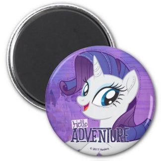My Little Pony | Rarity - Hello Adventure 2 Inch Round Magnet