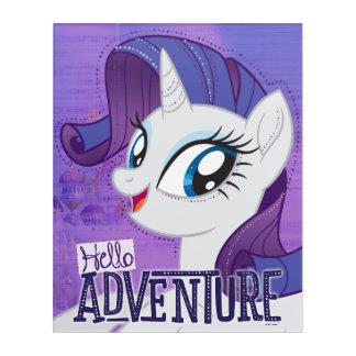 My Little Pony   Rarity - Hello Adventure Acrylic Wall Art