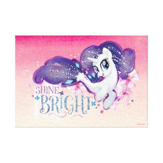 My Little Pony   Rarity - Shine Bright Canvas Print