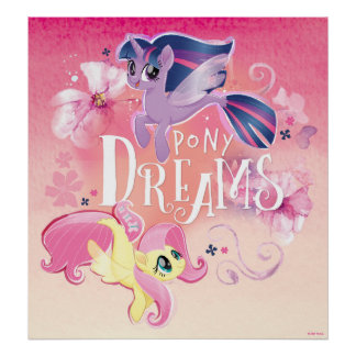 My Little Pony   Twilight and Fluttershy - Dreams Poster