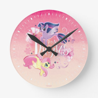 My Little Pony | Twilight and Fluttershy - Dreams Round Clock