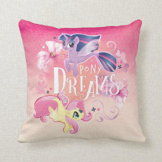 My Little Pony | Twilight and Fluttershy - Dreams Throw Pillow