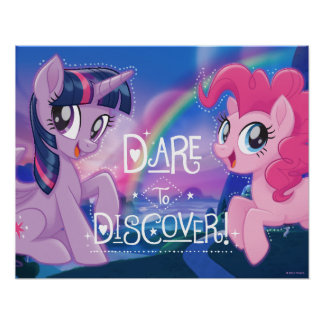 My Little Pony   Twilight and Pinkie - Discover Poster