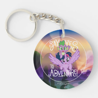 My Little Pony | Twilight and Spike - Adventure Double-Sided Round Acrylic Keychain