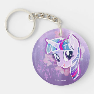 My Little Pony | Twilight Sparkle Watercolor Double-Sided Round Acrylic Keychain