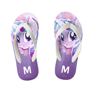 My Little Pony | Twilight Sparkle Watercolor Kid's Flip Flops