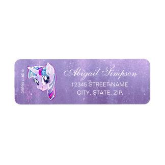 My Little Pony | Twilight Sparkle Watercolor Return Address Label
