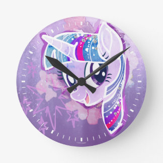 My Little Pony | Twilight Sparkle Watercolor Round Clock