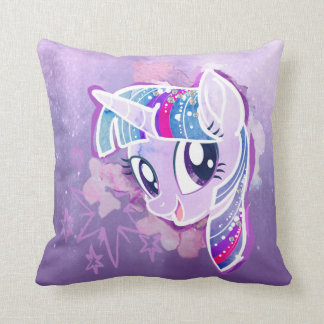 My Little Pony | Twilight Sparkle Watercolor Throw Pillow