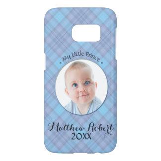 My Little Prince • Baby Boy • Blue Plaid Samsung Galaxy S7 Case