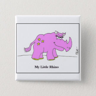 My Little Rhino 2 Inch Square Button