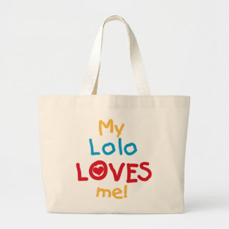 My Lolo Loves Me T-shirts and Gifts Tote Bag