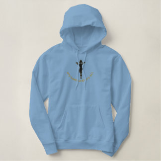 My Lord and my all cross Embroidered Hoodie