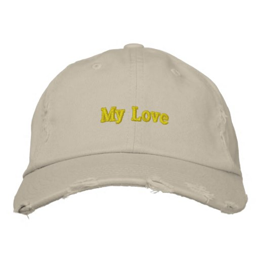 My Love Embroidered Hats