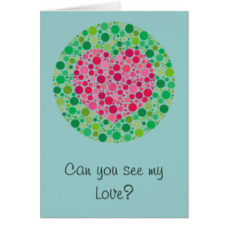 My Love is Colour Blind Valentine's Day Card