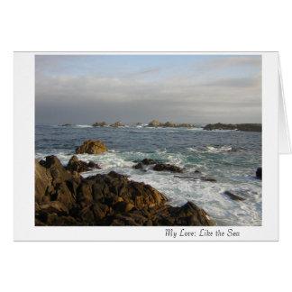 My Love: Like the Sea Card