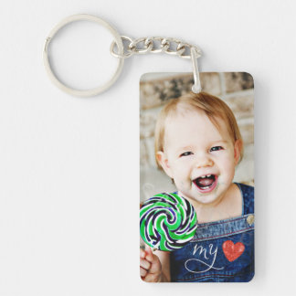 My Love Sweet Photo Single Sided Keychain