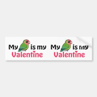 My Lovebird Is My Valentine Bumper Sticker