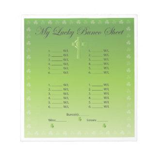 My Lucky Bunco Card 2 Scratch Pad