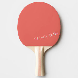 My Lucky Peach / Coral Color Ping Pong Paddle