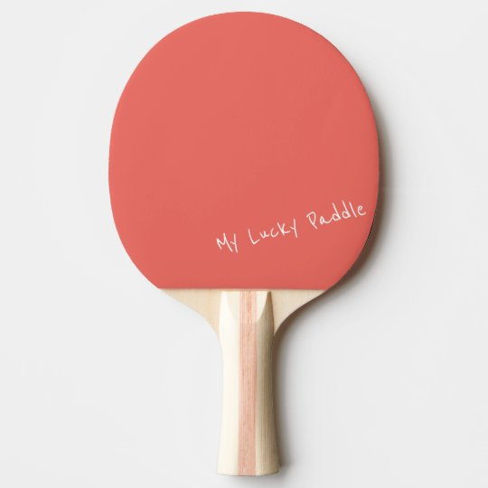 My Lucky Peach / Coral Colour Ping Pong Paddle