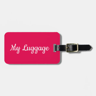 My luggage humourous luggage tag