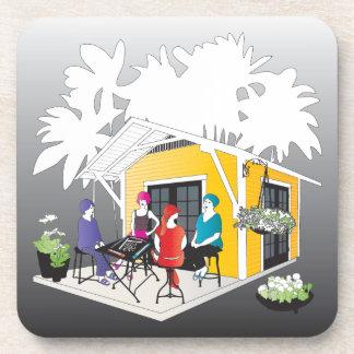 My Mah Jongg Cottage Coaster