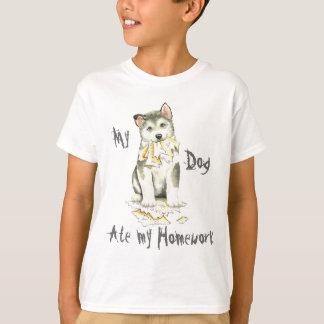 My Malemute Ate My Homework T-Shirt