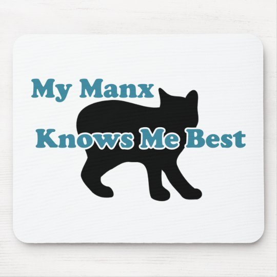 My Manx Knows Me Best Mouse Pad