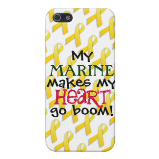 """My Marine Makes My Heart Go Boom!"" Case For The iPhone 5"
